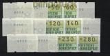 Bund ATM 1981 Mi # 1 Versandstellensatz 1 postfrisch teilweise mit Nummern (28229)