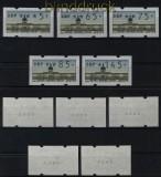Berlin ATM 1997 Mi # 1 Versandstellensatz 2 komplett mit Nummern postfrisch (29472)