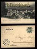Bad Grund am Oberharz sw-AK vom Gitterberge aus 1903 (d5481)