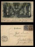 Arenberg sw-AK Inneres der Kirche 1900 MiF Krone/Adler mit Germania (d5515)