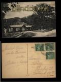 Gasthaus am Ugleisee sw-AK mit 600jähriger Rieseneiche 1923 (d5533)