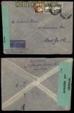 Palestina Luftpost-Zensur-Brief Tel Aviv 1941 (29416)