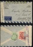 Griechenland Auslands-Luftpost-Zensurbrief 1951 in die USA (29436)