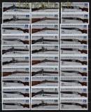 DDR Zusammendrucke  Mi # 2376/81 postfrisch SZd 168/179 Jagdwaffen (29537)