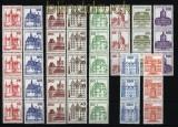 Berlin Burgen & Schlösser postfrische 5er und 3er-Streifen mit Nummern (29643)