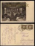 Mitropa sw-AK Gruss aus dem Speisewagen 1927 (d5427)