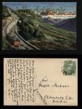 Bozen farb-AK Rittenbahn mit Panoramaansicht 1911 (a0941)