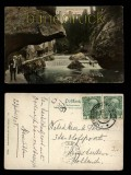 Edmundsklamm am Hohl farb-AK Böhm. Schweiz 1908 (a0962)