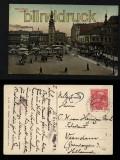 Mährisch Ostrau farb-AK Ringplatz mit Rathaus 1913 (a0963)