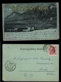 Gruss aus Innsbruck sw-AK Schloss Ambras 1899 Mondscheinkarte  (a0980)