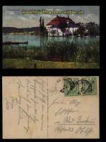 Schloß Kammer am Attersee farb-AK im Salzkammergut 1913 (a0995)