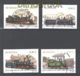 Rumänien Mi # 6551/54 Dampflokomotiven gestempelt (30281)