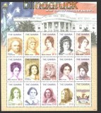 Gambia Mi # 5787/5830 First Ladies der USA in drei postfrischen Kleinbögen (29936)