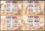 Liberia 150. Jahrestag des amerikanischen Bürgerkrieges 4 ** Klbg (29953)