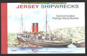 Jersey Mi # Markenheftchen # 24 Schiffshavarien im Seegebiet vor Jersey postfrisch (30095)