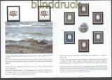 Lettland Mi # 305/312 im Gedenkblatt potfrisch (30312)