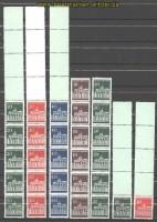 Bund Brandenburger Tor Rollenmarken RE 5 + 4, 6er-Streifen und RE 5 + 1 postfrisch (30403)