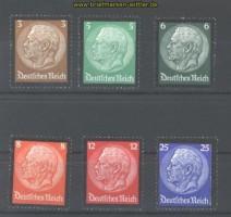 dt. Reich Mi # 548/53 Hindenburg-Trauersatz postfrisch (30390)