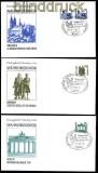 DDR Mi # 3344/3352 Währungsunion Ersttagsbriefe (30569)