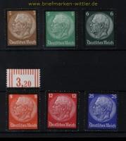 dt. Reich Mi # 548/53 Hindenburg-Trauersatz postfrisch (30589)
