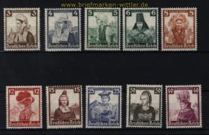 dt. Reich Mi # 588/97 Nothilfe 1935 postfrisch (30591)