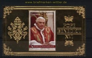 Guyana 2011 Papst Benedict 5 Jahre im Amt postfrisch (30763)