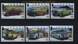 Jersey Mi # 1529/34 Transportwesen auf Jersey: Omnibusse (III) postfrisch (30742)