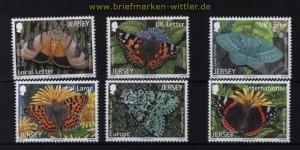 Jersey Mi # 1634/39 Schmetterlinge (IV) postfrisch (30751)