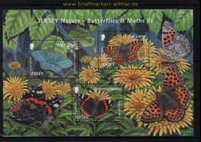 Jersey Mi # Block 100 Schmetterlinge (IV) postfrisch (30758)