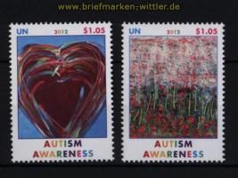 UNO New York Mi # 1302/03 Autismus  postfrisch (30791)