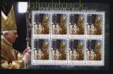 Antiqua und Barbuda Mi # 4537 80. Geb. Papst Benedict postfrischer Kleinbogen (30908)