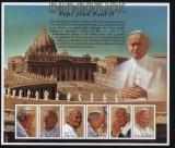Guyana Mi # 6581/86 Papst Johannes Paul II postfrischer Kleinbogen (30649)