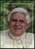 Mongolei Mi # 3679/82 80. Geburtstag von Papst Benedikt XVI postfrischer Kleinbogen (30653)