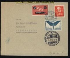 Schweiz Ballon-Luftpost Gordon Bennett Wettfliegen Basel 1932 (31234)