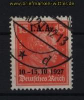 dt. Reich Mi # 408 15 Pfennig IAA gestempelt (31322)