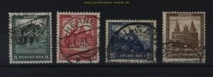 dt. Reich Mi # 459/62 Nothilfe 1931 gestempelt (31331)