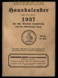 dt. Reich Hauskalender 1937 für das Bistum Osnabrück und das Oldenburger Land (31341)