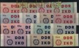 DDR Dienst B ZKD Mi # 1/15 Laufkontrollzettel für die Volkspolizei postfrisch (31456)