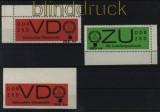 DDR Dienst B Mi # 3 VD Aufdruck 4 a und Mi # 4 ZU Aufdruck 4 b postfrisch (31457)