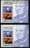 Gibraltar 2 x Mi # Block 1 postfrisch 100. Geburtstag von Winston Churchill (31141)