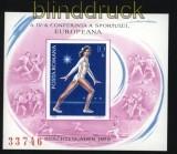 Rumänien Mi # Block 160 postfrisch Europäische Sportkonferenz (31202)