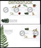 Neuseeland Mi # Block 266 und Mi # 2716/23 auf FDC Ersttagsbrief Grußmarken (31578)