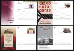Portugal vier verschiedene ungebrauchte Ganzsachenkarten aus 2011 und 2012 (31592)