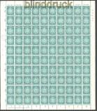 DDR Dienst Mi # D 35 y BY kompletter postfrischer Schgalterbogen mit Plattenfehler III  (30220)