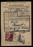 SBZ Mi # 219 EF auf Einlieferungsschein Chemnitz 28.10.1950 (31629)
