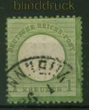 dt. Reich Mi #   7 gestempelt 1 Kreuzer kleiner Schild (31732)