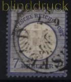 dt. Reich Mi #  10 gestempelt 7 Kreuzer kleiner Schild (31734)