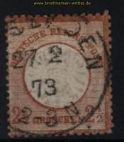 dt. Reich Mi #  21 gestempelt 2 1/2 Groschen großer Schild (31735)