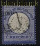 dt. Reich Mi #  26  gestempelt 7 Kreuzer großer Schild (31739)