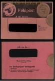 dt. Reich Feldpost 2. WK Dauerbriefumschlag in rosa 1944 RRR (31708)
